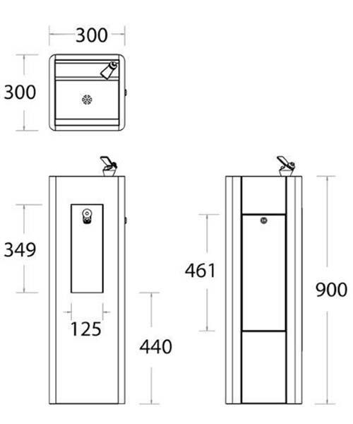 DWF Water Fountain dimensions